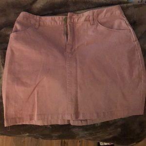 F21 peach skirt